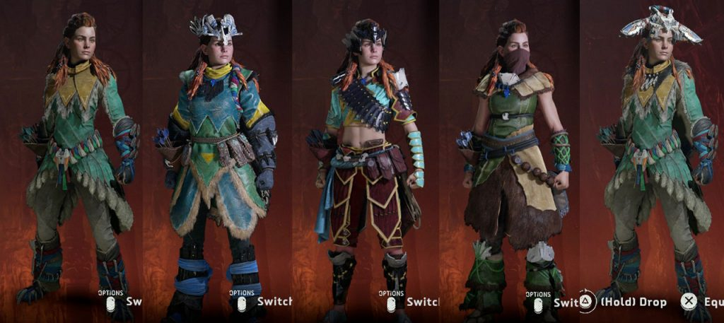 Frozen Wilds Horizon Zero Dawn All Outfits