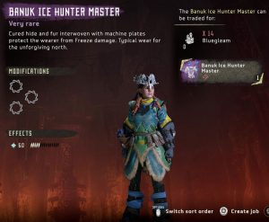 HZD Frozen Wilds Banuk Ice Hunter Outfit