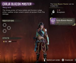 HZD Frozen Wilds Carja Blazon Master Outfit