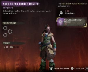 HZD Frozen Wilds Nora Silent Hunter Master Outfit