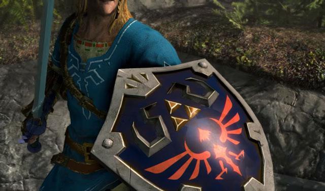Skyrim Zelda Master Sword, Hylian Shield, Champion's Tunic - How to Get