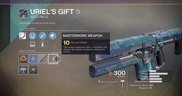 destiny 2 december update masterwork weapons