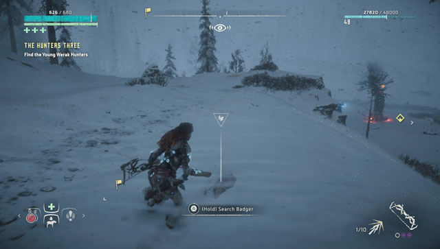 horizon zero dawn frozen wilds badger bone skin farming locations