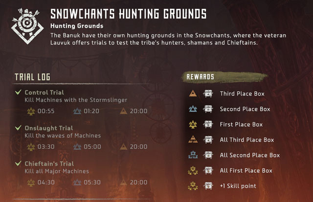 horizon zero dawn frozen wilds hunting trials control onslaught chieftain