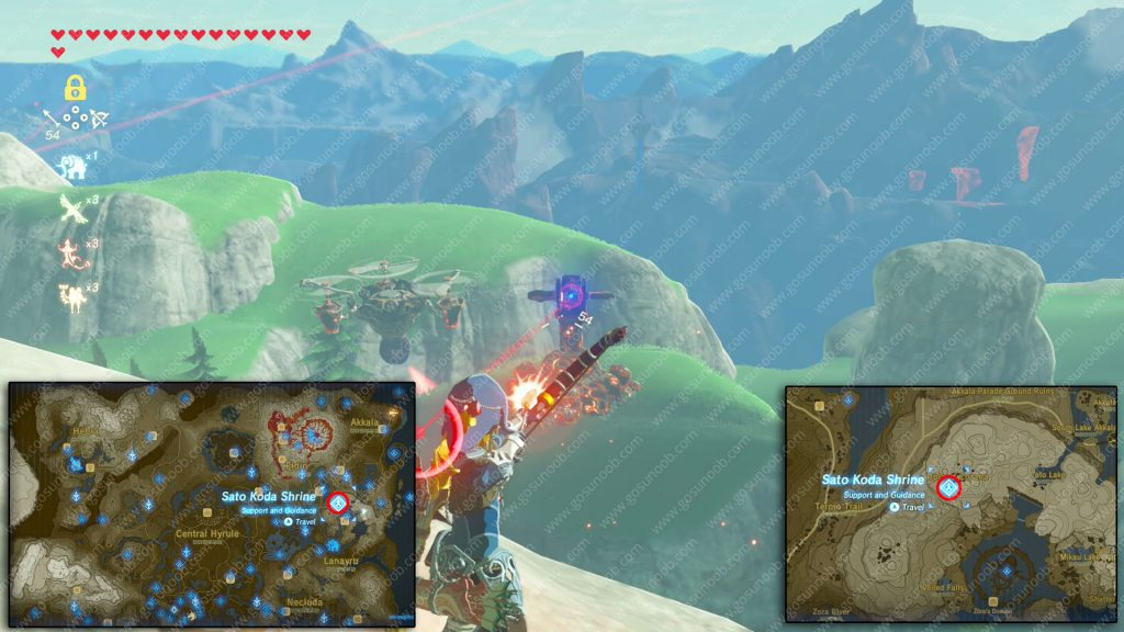 Conquer the ancient foes riddle solution location Zelda Botw