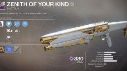 Destiny 2 Shotgun Zenith of Your Kind