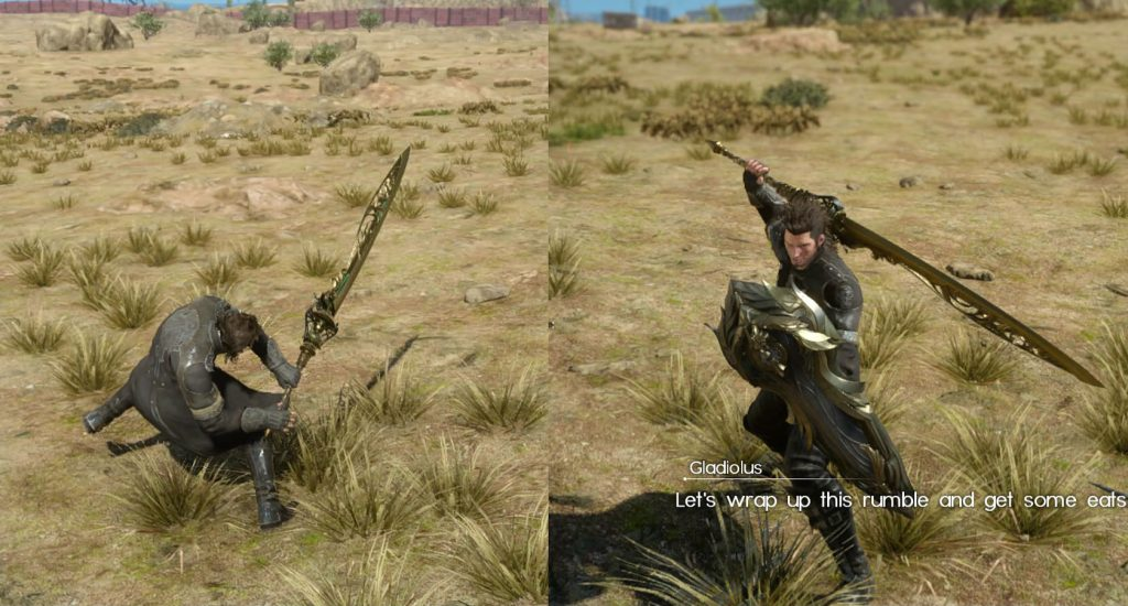 FFXV Play as Gladiolus in Main Game