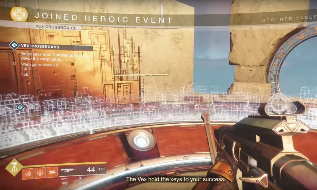 How to Activate The Heroic Vex Crossroads Event
