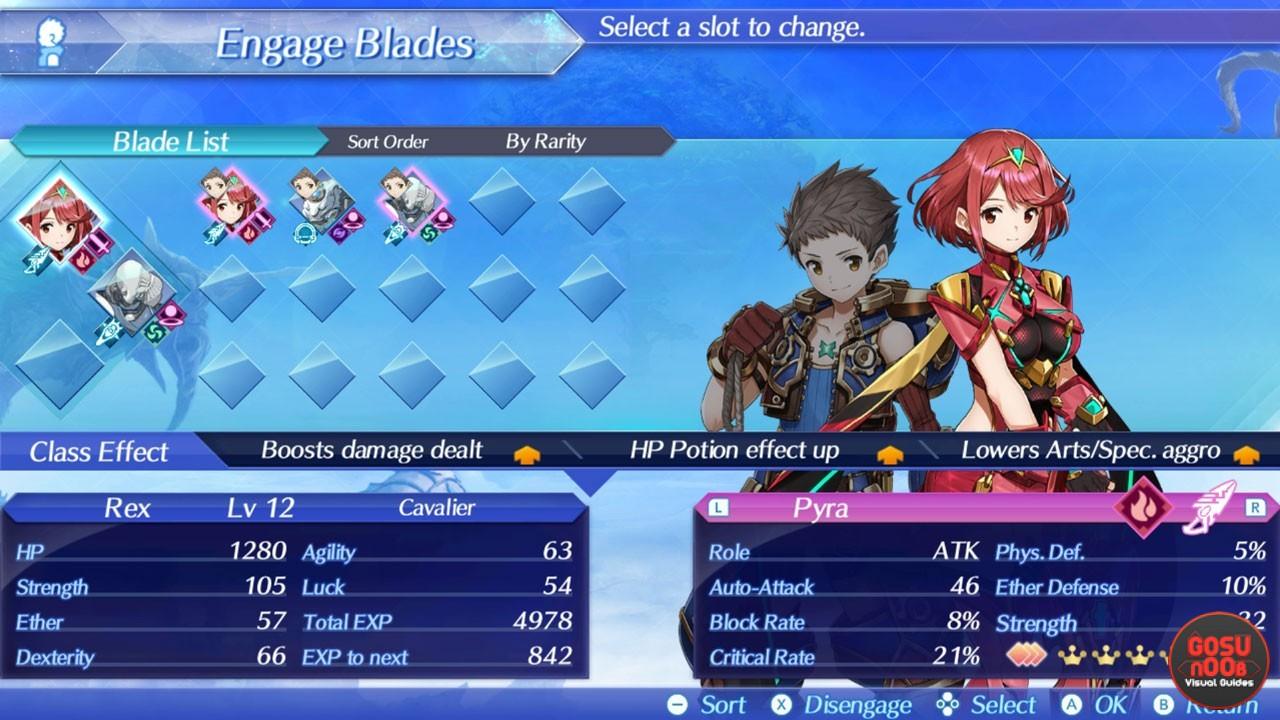 Xenoblade Chronicles X Skill Slots