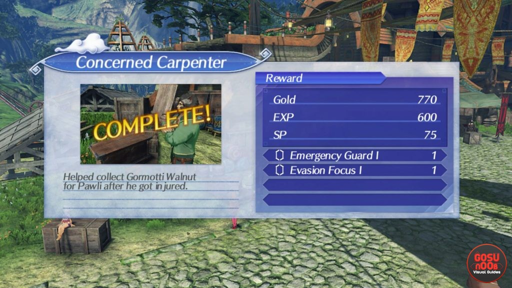 concerned carpenter side quest complete xenoblade chronicles 2