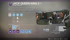 destiny 2 jack queen king 3 legendary weapon