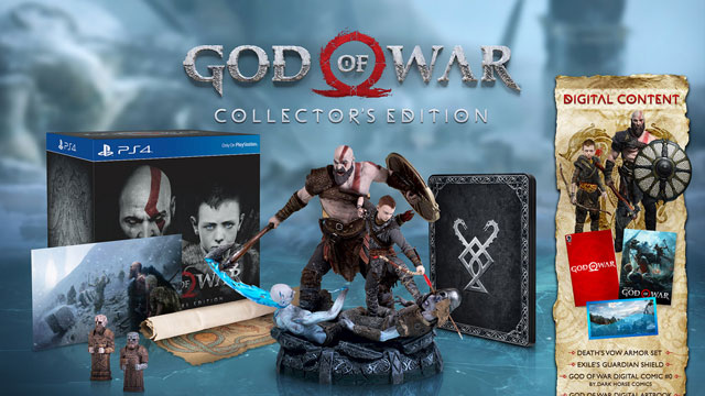 God of War Collector's, Stone Mason, Digital Deluxe & Preorder Bonuses
