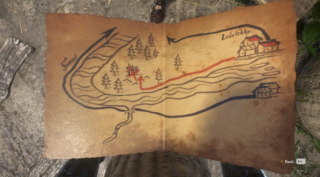 Kingdom Come Deliverance Treasure Map XI location