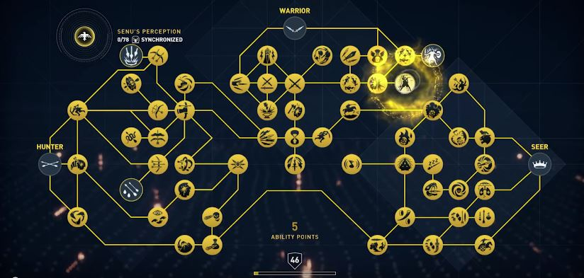 ac origins curse of the pharaohs skills abilities