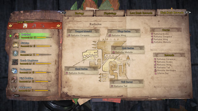 monster hunter world inferno coma freezer sac locations