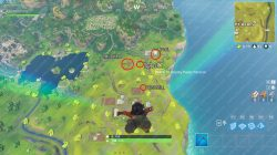 Fortnite BR Search between a Pool Windmill and an Umbrella location