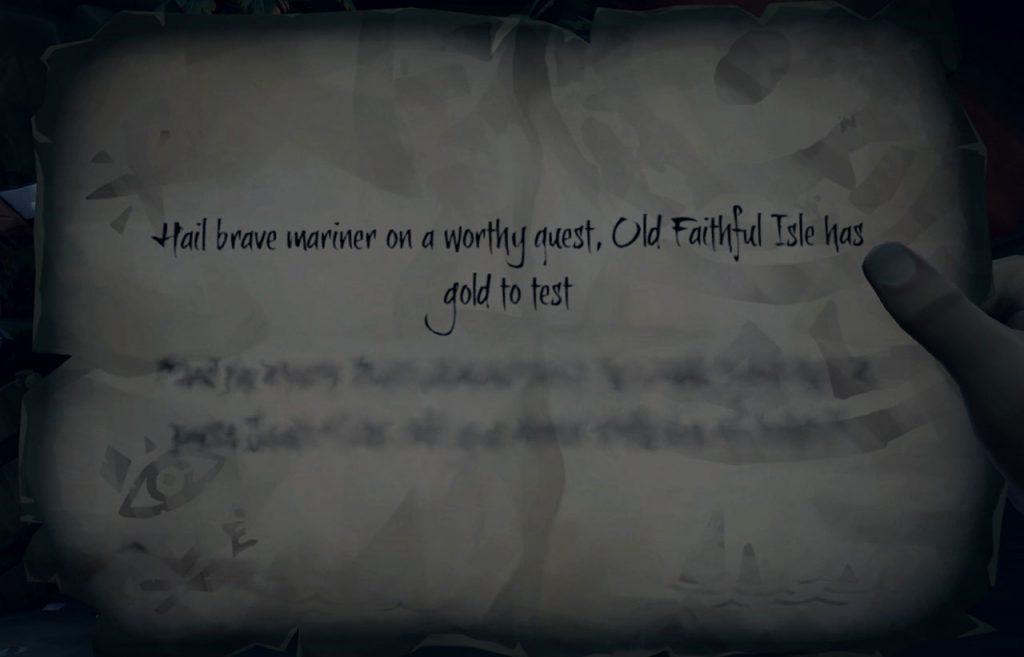 Sea of Thieves Old Faithful Isle Riddle Solution