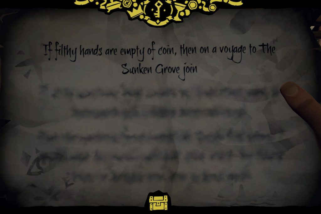 Sunken Grove Riddle Solution and Location Sea of Thieves