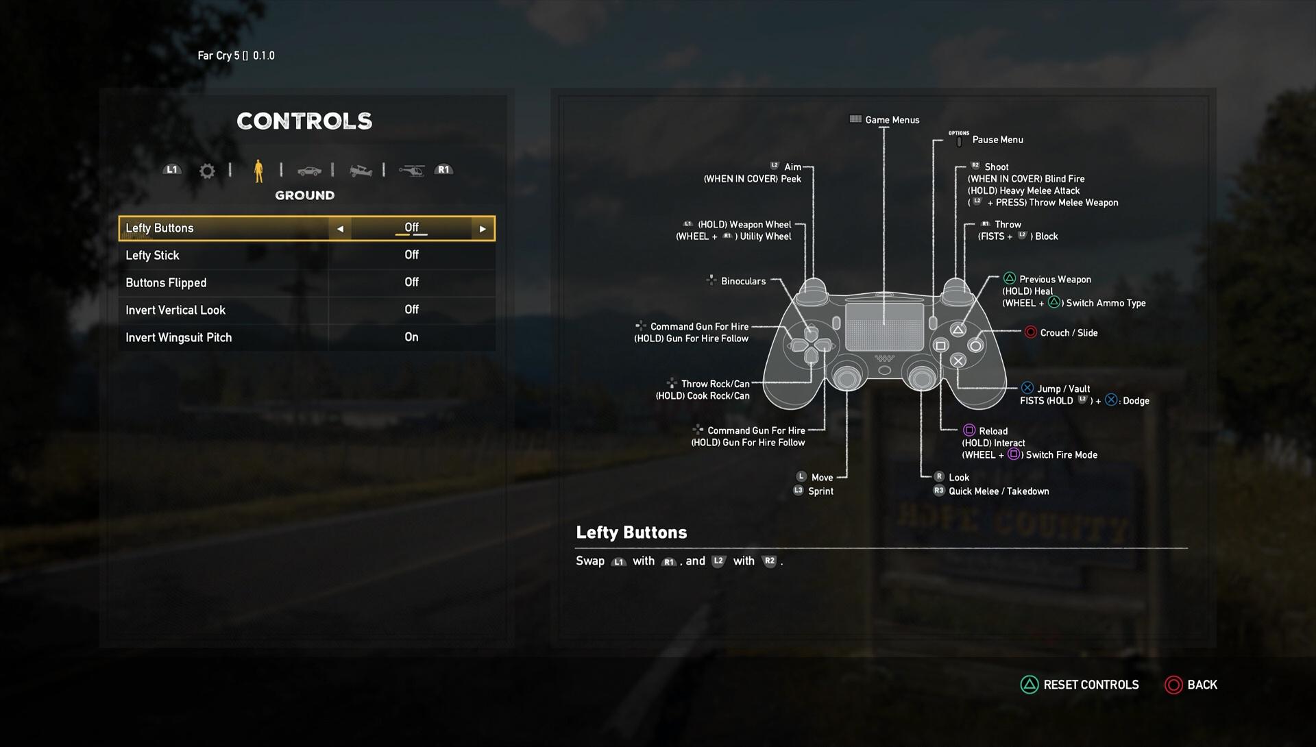 far cry 5 controls list