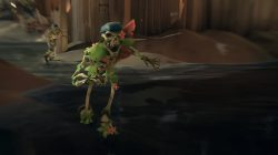 sea of thieves green skeleton