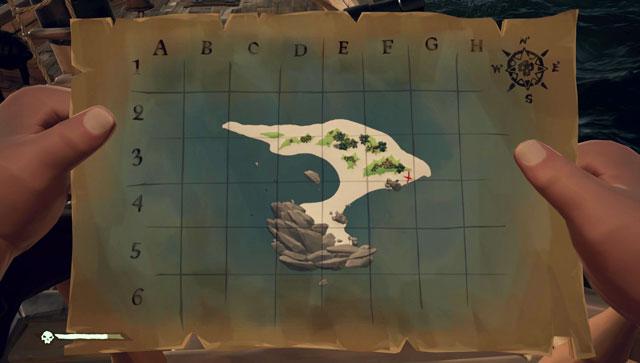 sea of thieves treasure map
