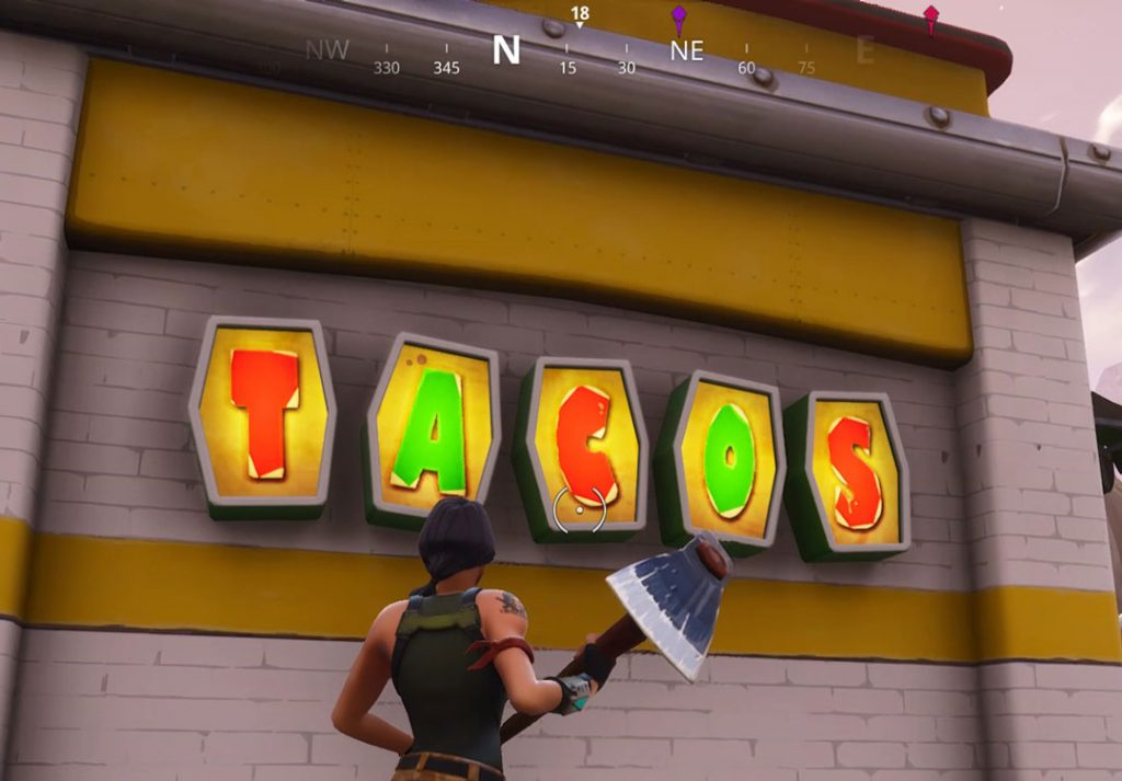 Fortnite BR Visit Different Taco Shops in a Single Match