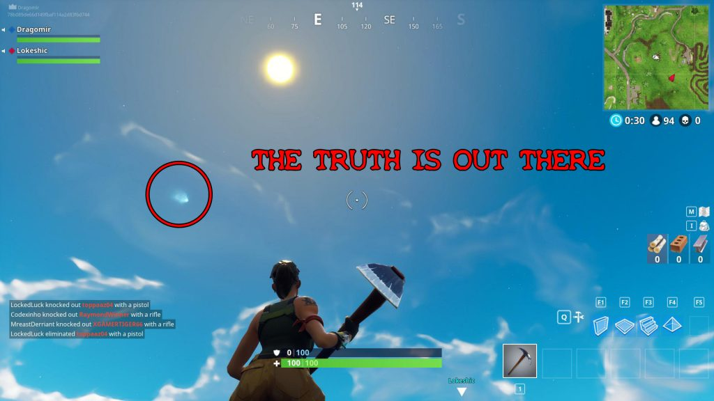 fortnite br telescope locations comet easter egg