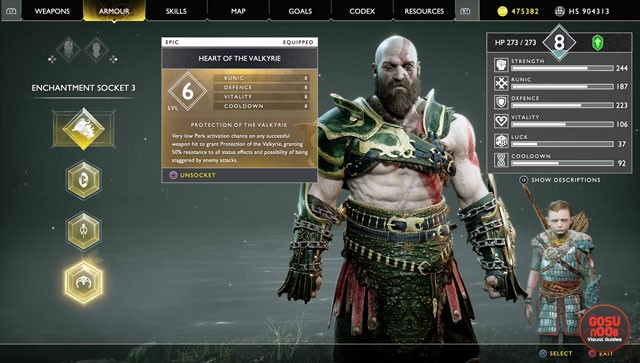 god of war best enchantments
