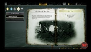 god of war boat captain's key treasure map