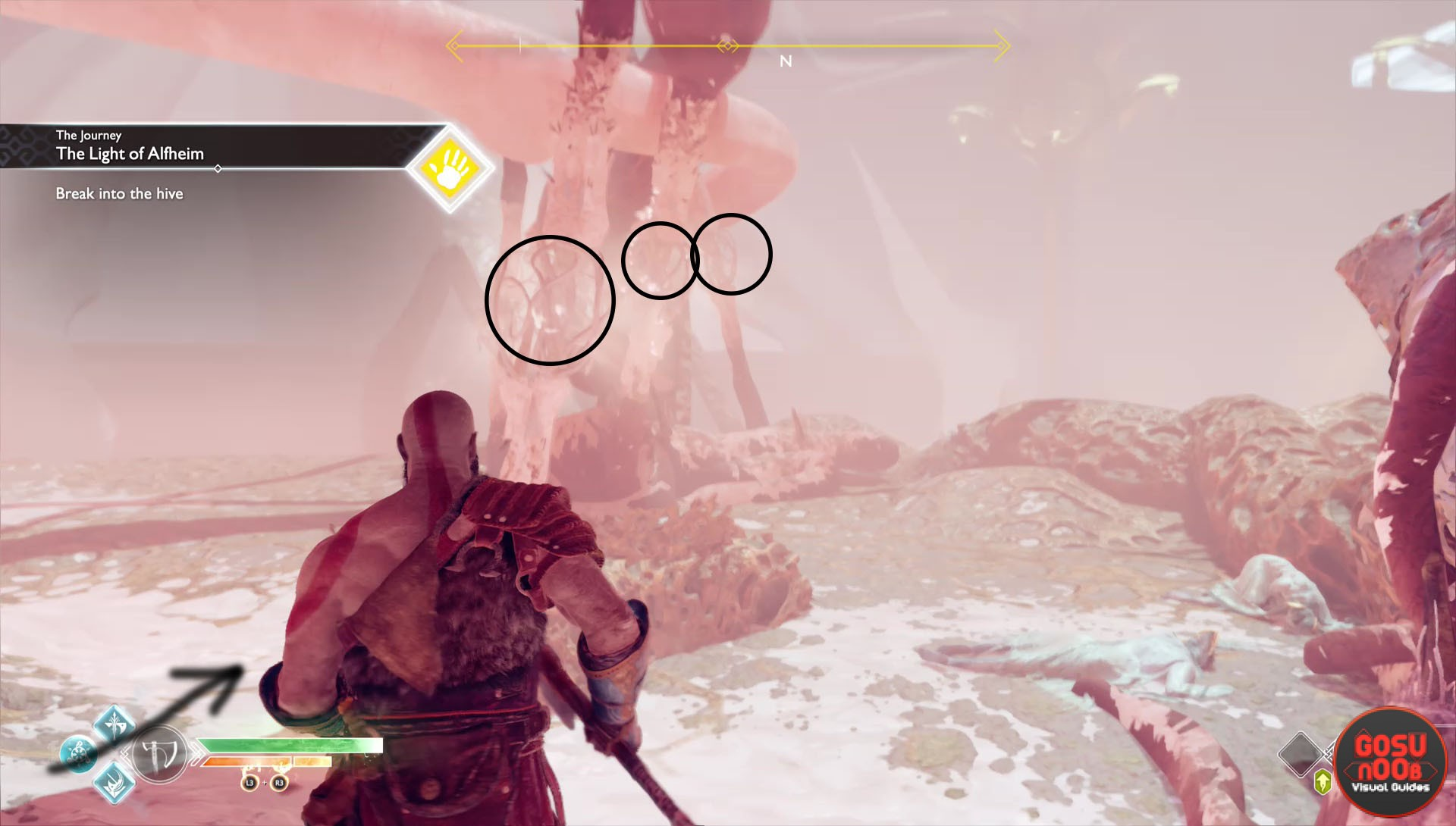 God Of War Alfheim Puzzle Break Into The Hive By Removing