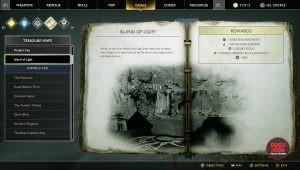 god of war island of light treasure map