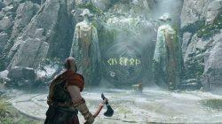 god of war rotating rune door puzzle solution river pass