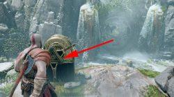 god of war spinning rune door how to solve