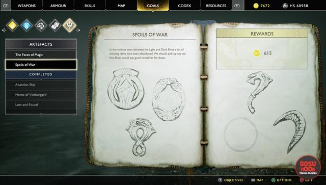 god of war spoils of war artefact locations alfheim