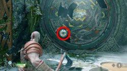 river pass revolving rune door god of war puzzle how to solve