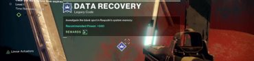 destiny 2 data recovery legacy code mission