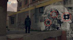 detroit become human face graffiti symbols