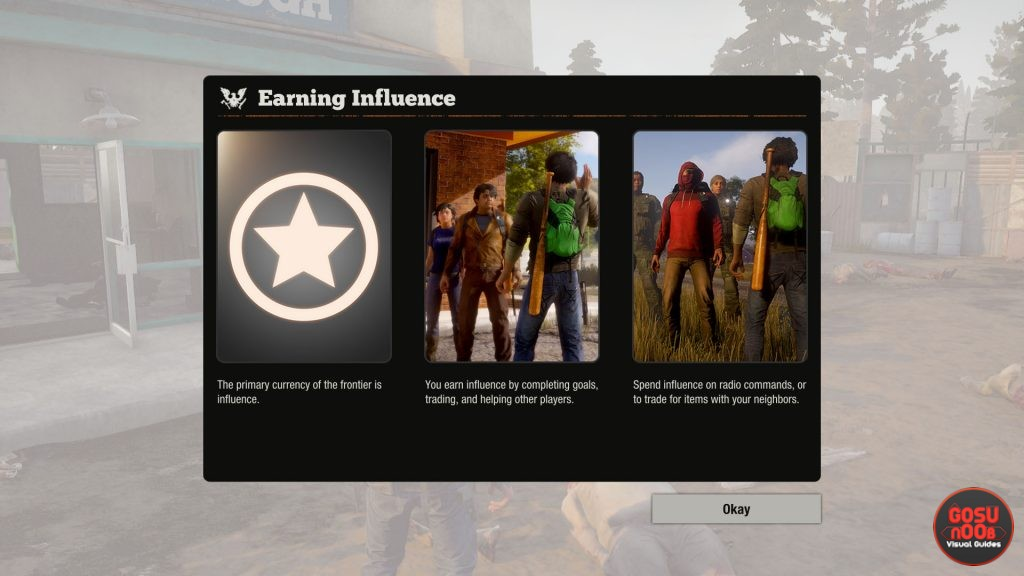 state of decay 2 how to earn influence