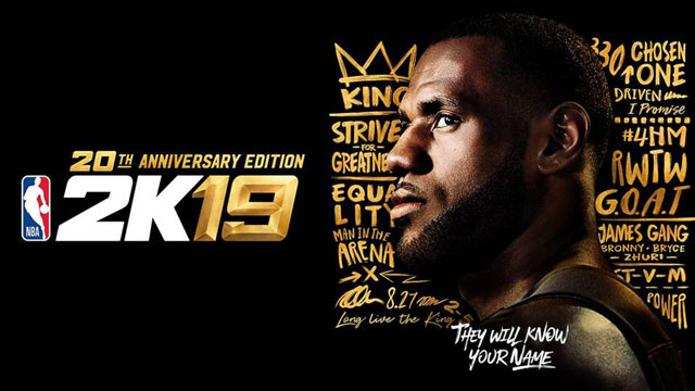 NBA 2K19 20th Anniversary Edition to Feature LeBron James on Cover