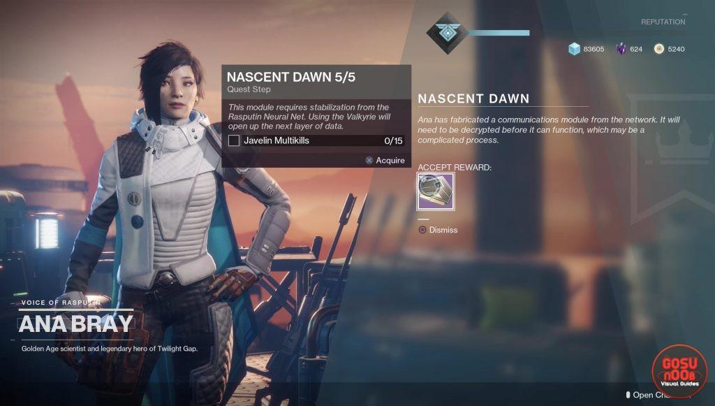 Destiny 2 Nascent Dawn 5/5 - Javelin Multikills, Alton Dynamo Cache