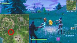 fortnite br search between playground campsite footprint where to find star