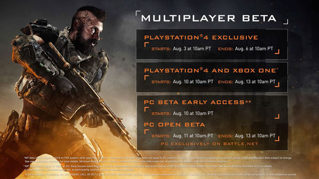 Call of Duty Black Ops 4 Will Have Two Betas, Launch Dates Revealed