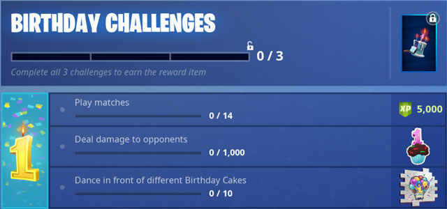 Fortnite BR First Birthday Challenges & Event Revealed