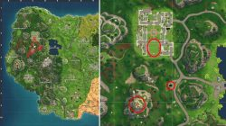 Fortnite BR Soccer Pitch Gas Station Stunt Mountain Map Location