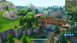 fortnite battle royale floating bolts orange bridge