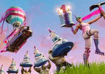 fortnite br dance in front of different birthday cakes