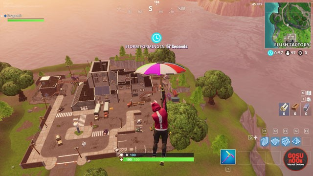 fortnite br flush factory treasure map location