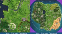 Fortnite Follow the Treasure Map found in Dusty Divot Map Location