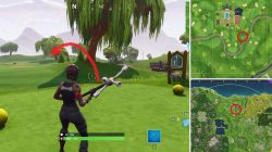 Hit a golf Ball From Tee to Green on Different Holes Fortnite BR