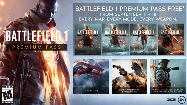 Battlefield 1 Premium Pass Giveaway after Battlefield V Open Beta